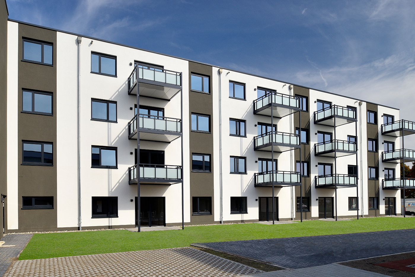 Neubau Wohngebäude Vonovia Wiesbaden Alho Systembau